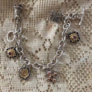 Cabi sterling & 14kt gold bracelet